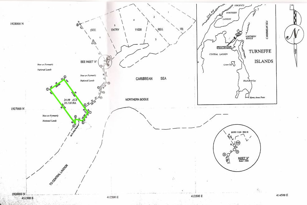 24.99 Acre Turneffe Island Development Property!