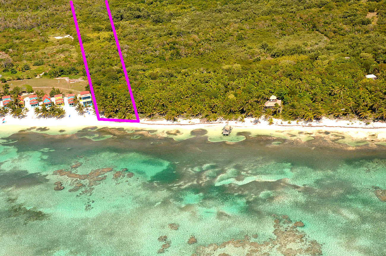 95ft Prime beach front by over 1000ft deep in North Ambergris Caye